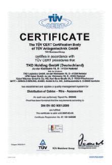 TKD Kabel сертификат